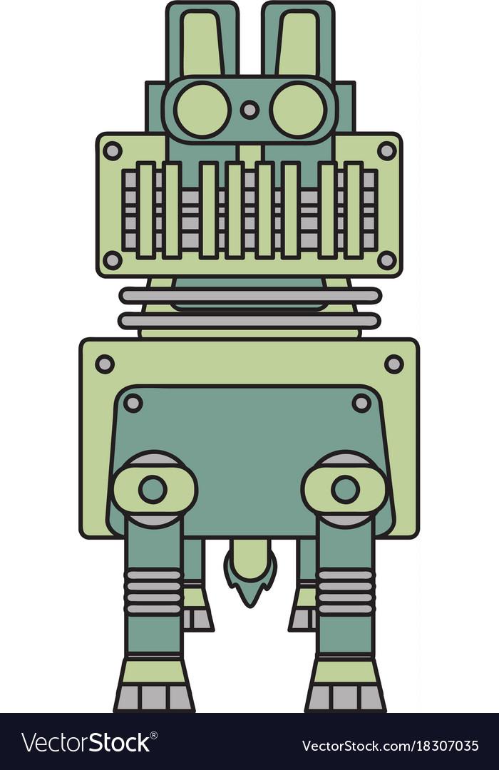 Robotic dog vector image
