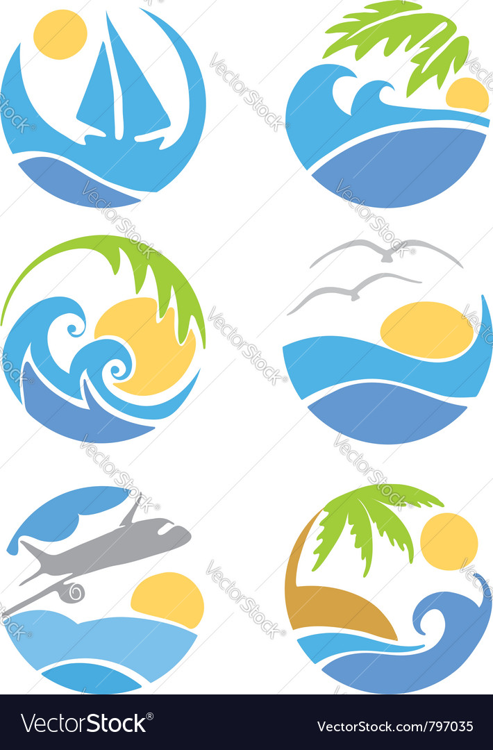 Set icons - travel and vacation