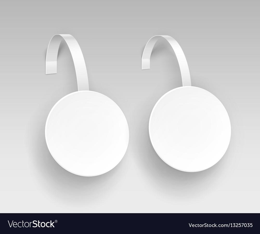 Set of white paper plastic advertising wobbler vector image