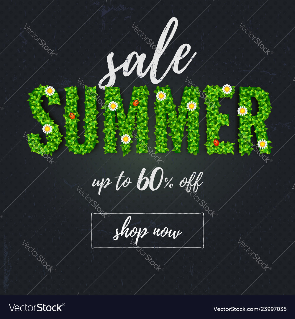 Summer sale handwriting text lettering scratched