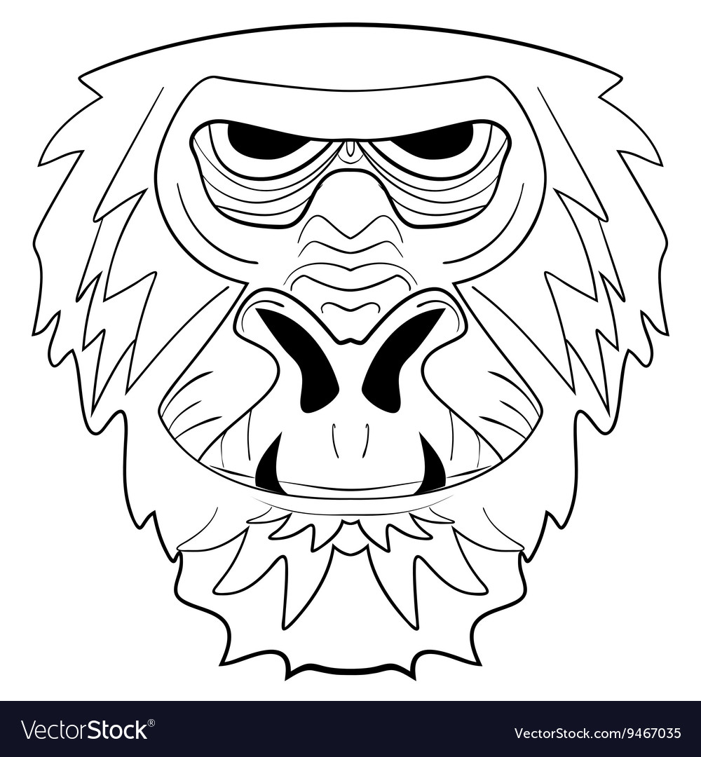 The graphic image of the monkey tattoo ink sketch