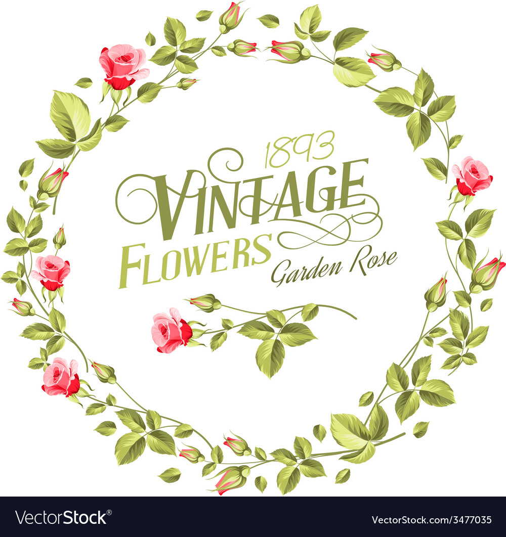 Wonderful Vintage Flowers Part - 10: Vintage Flowers Vector Image
