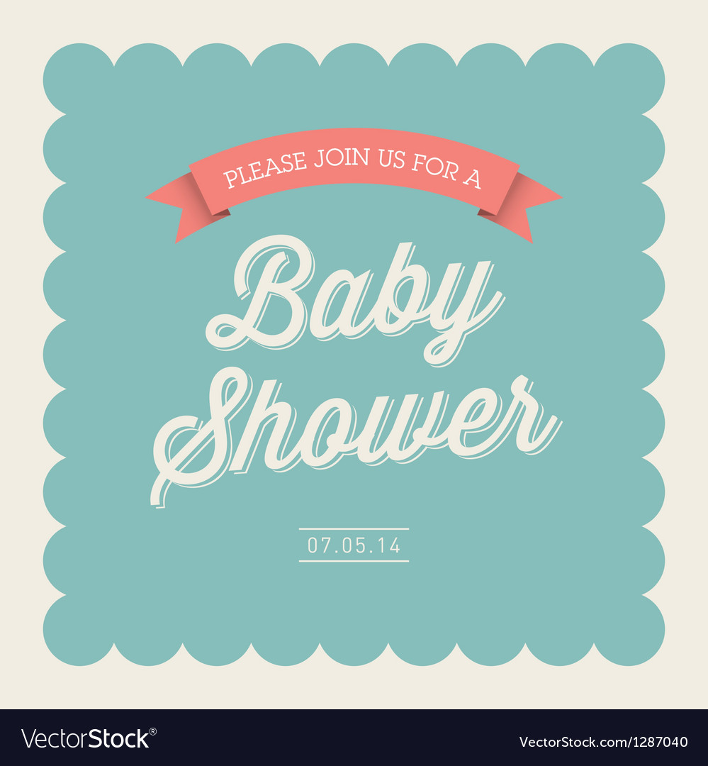 Baby Shower Card Invitation Royalty Free Vector Image