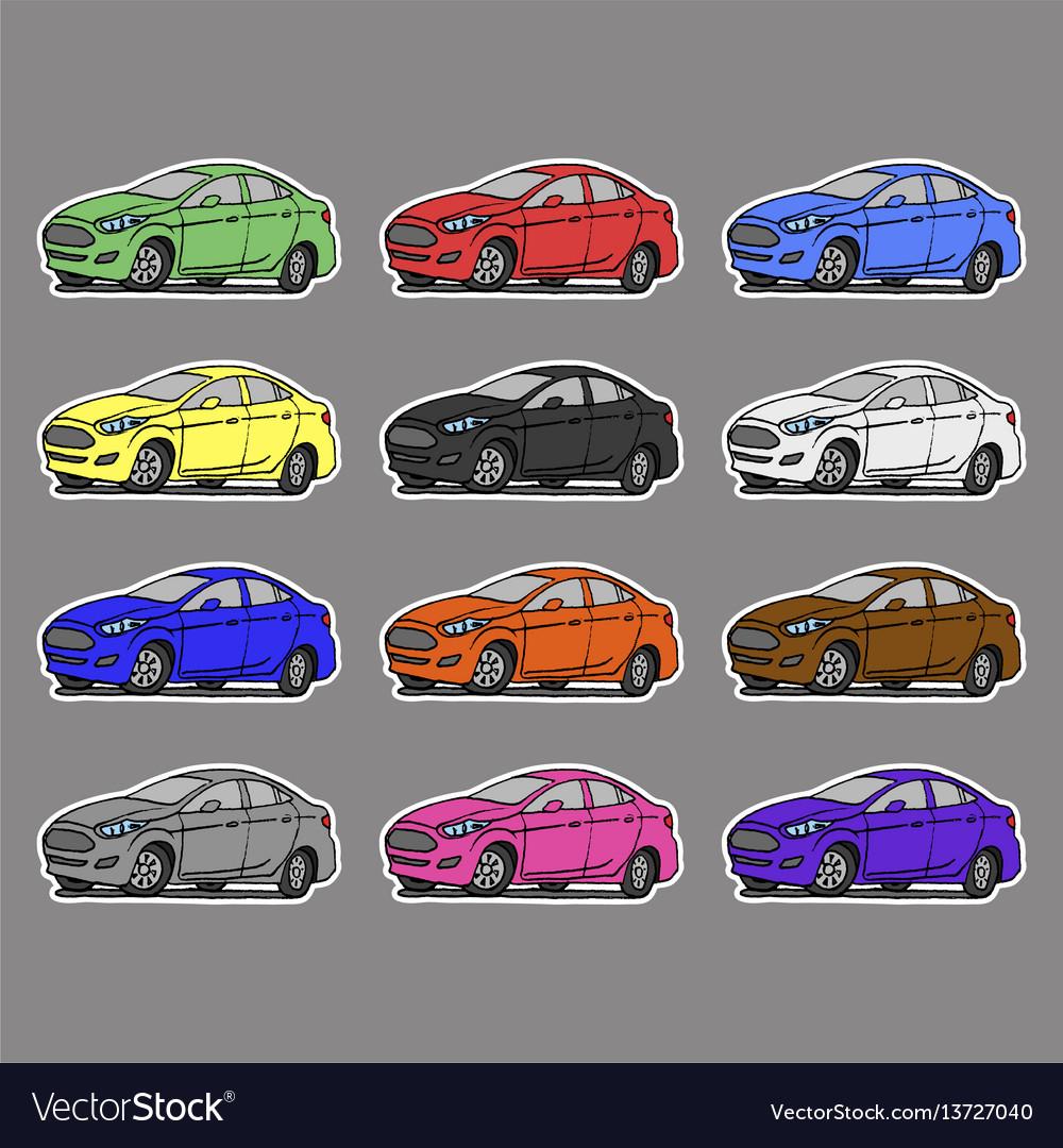 Cartoon cars sticker for boys