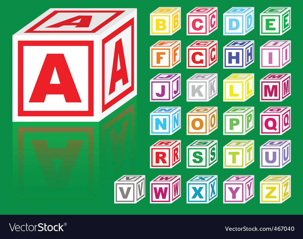 Cubes alphabet vector image