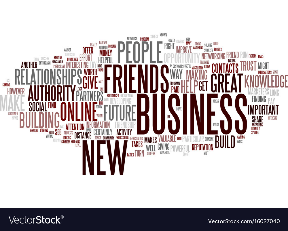 Friendship as the way to get new customers and