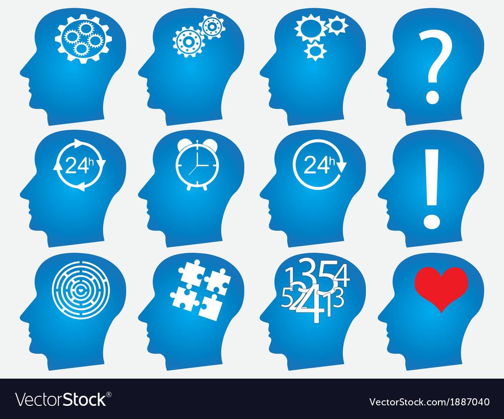 Infographic head design vector image