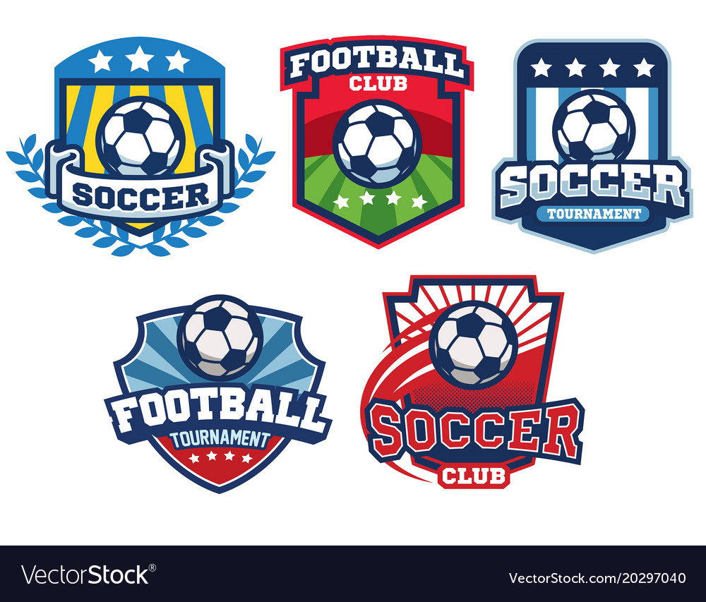 soccer badge design collection royalty free vector image