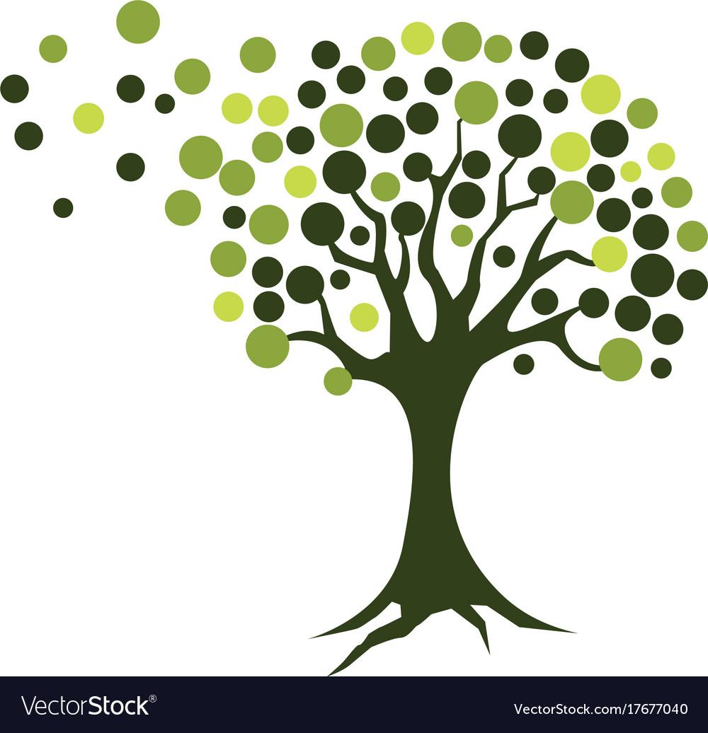 Tree icon logo template