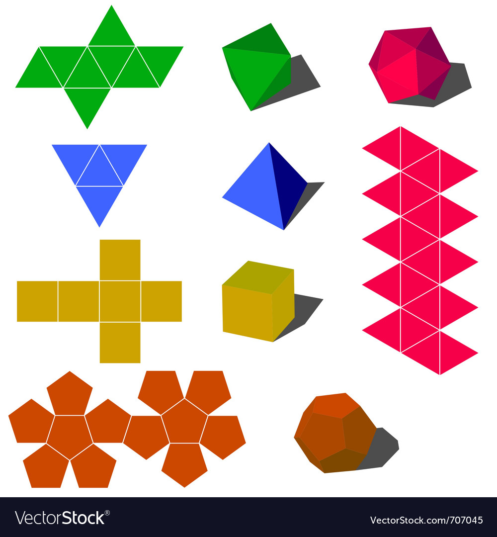 3d geometric shapes royalty free vector image - vectorstock