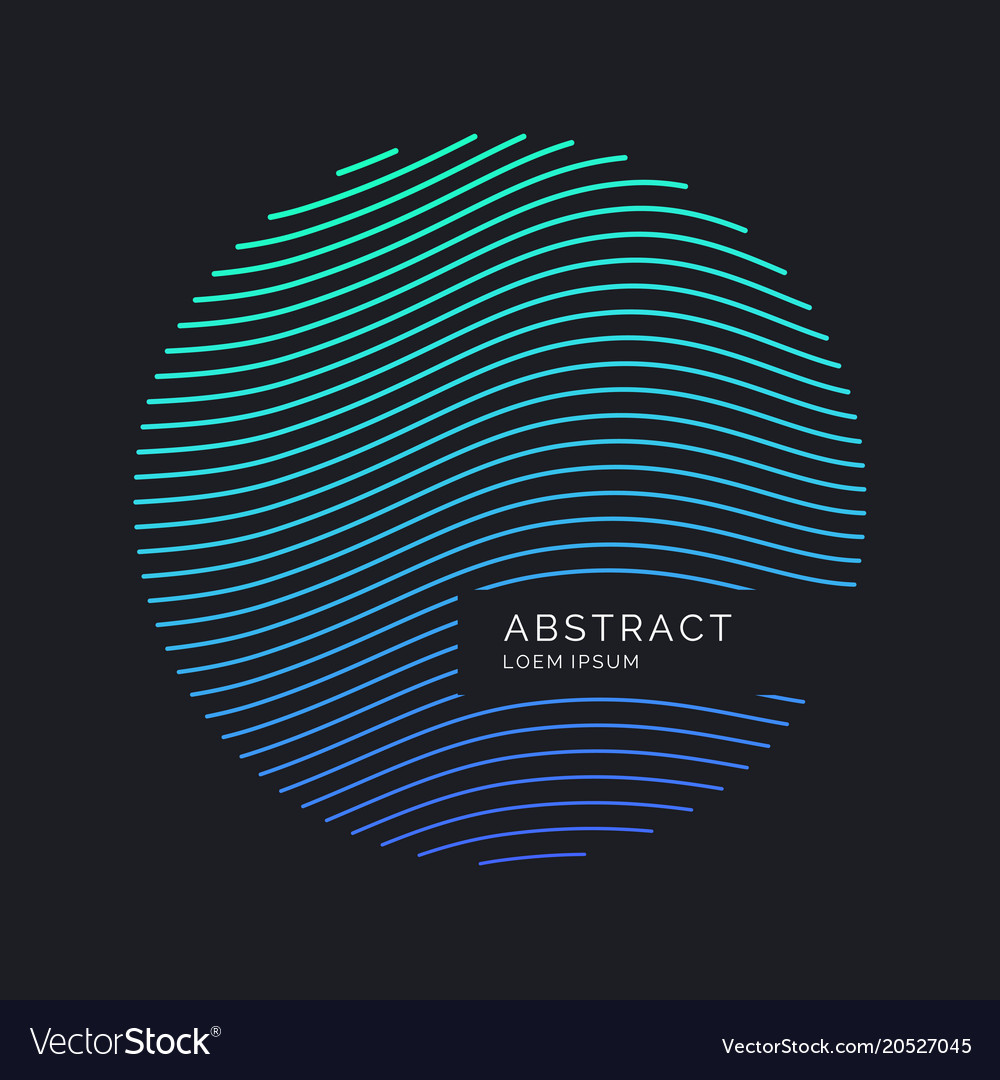 Abstract background with dynamic waves