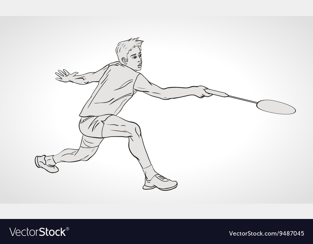 Badminton player Hand vector image