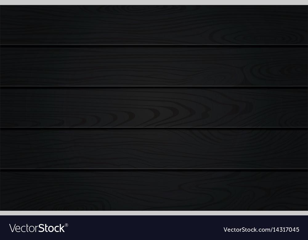 Black Wood Texture Natural Dark Wooden Background Vector Image