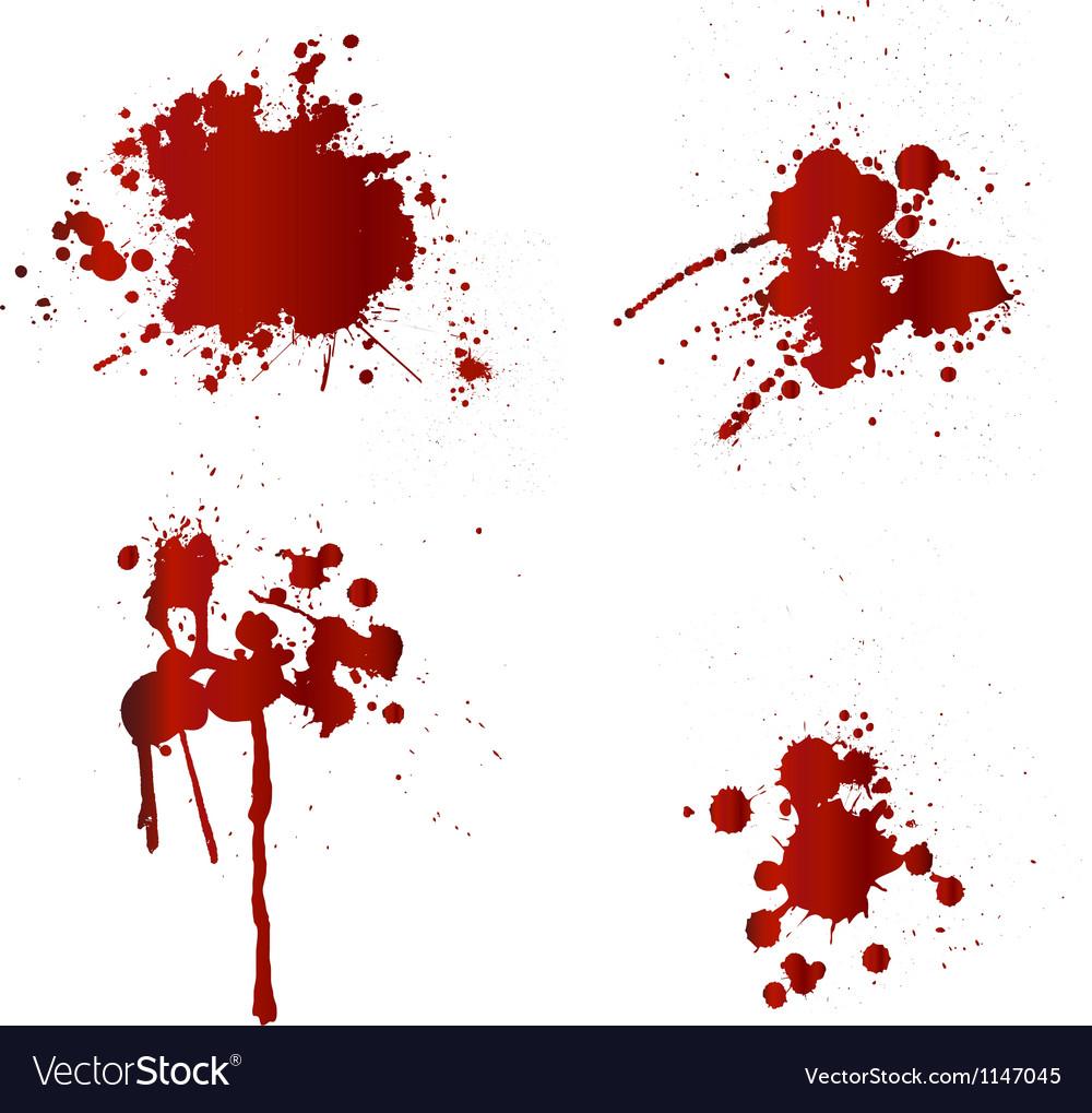 Blood splatters vector image