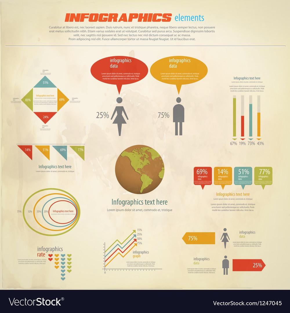 Infographics retro