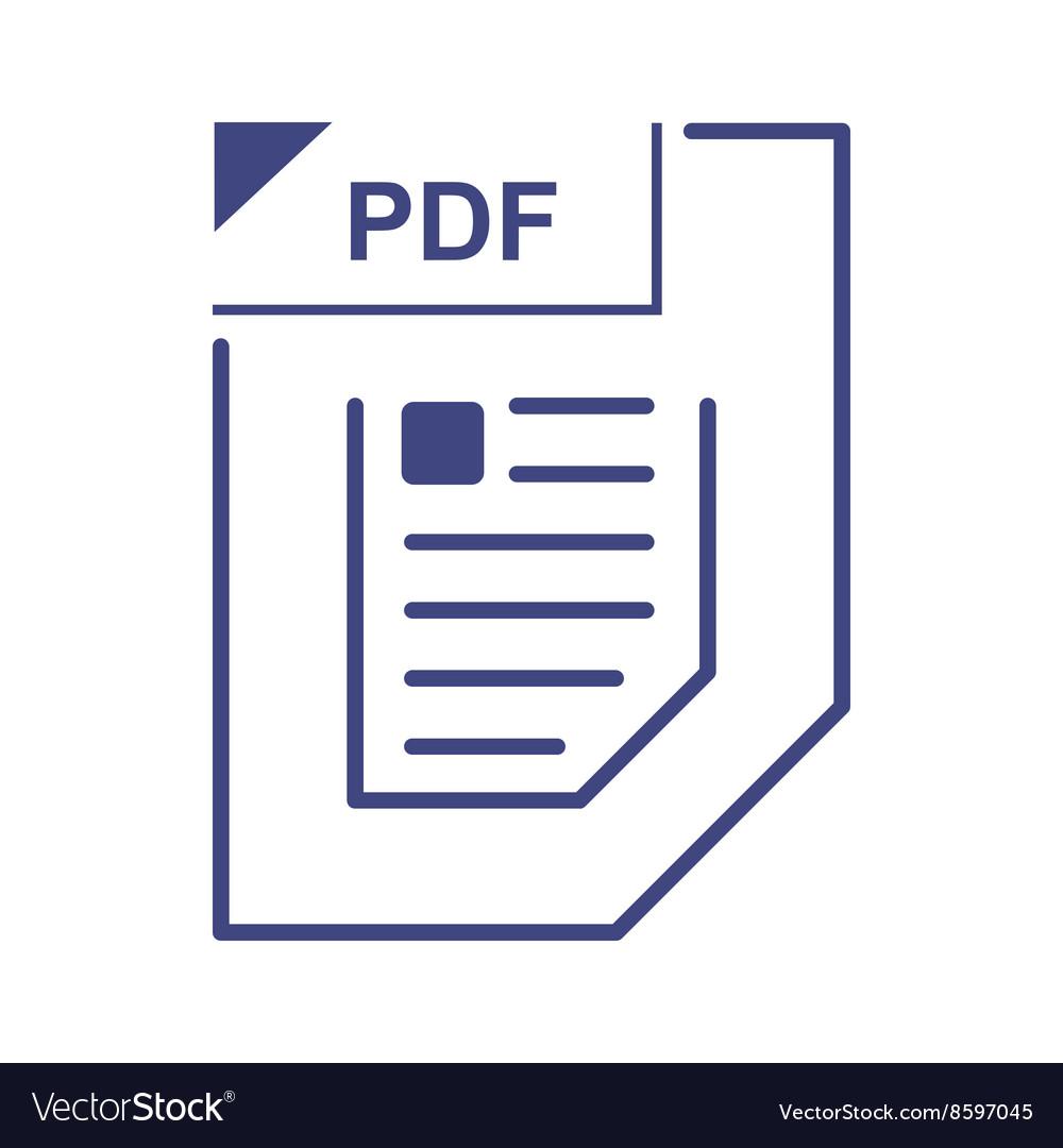 PDF file icon cartoon style
