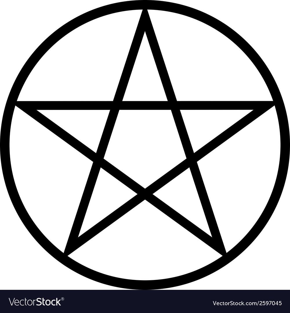 pentagram icon royalty free vector image vectorstock rh vectorstock com vector pentagram pentagram vector download