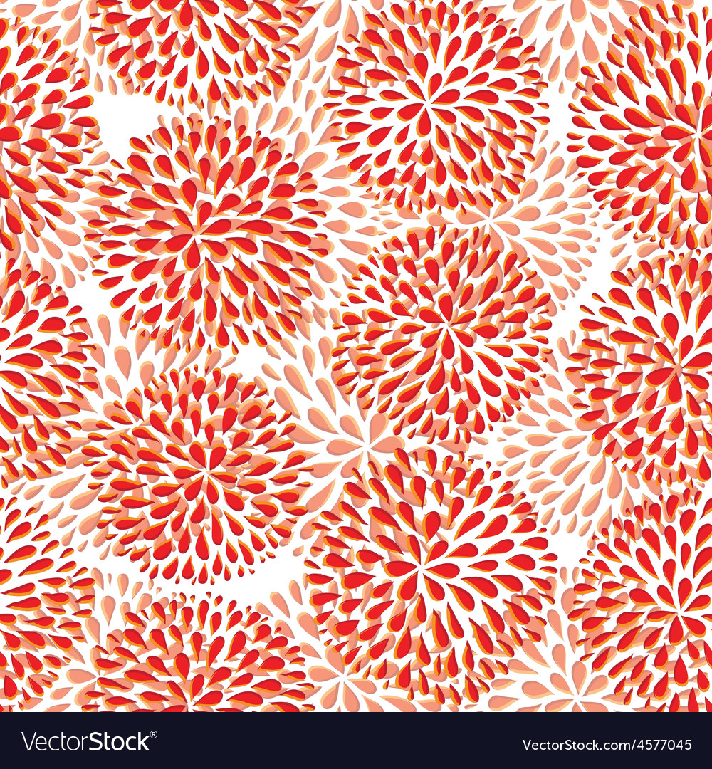 Seamless Pattern Modern Floral Texture Royalty Free Vector