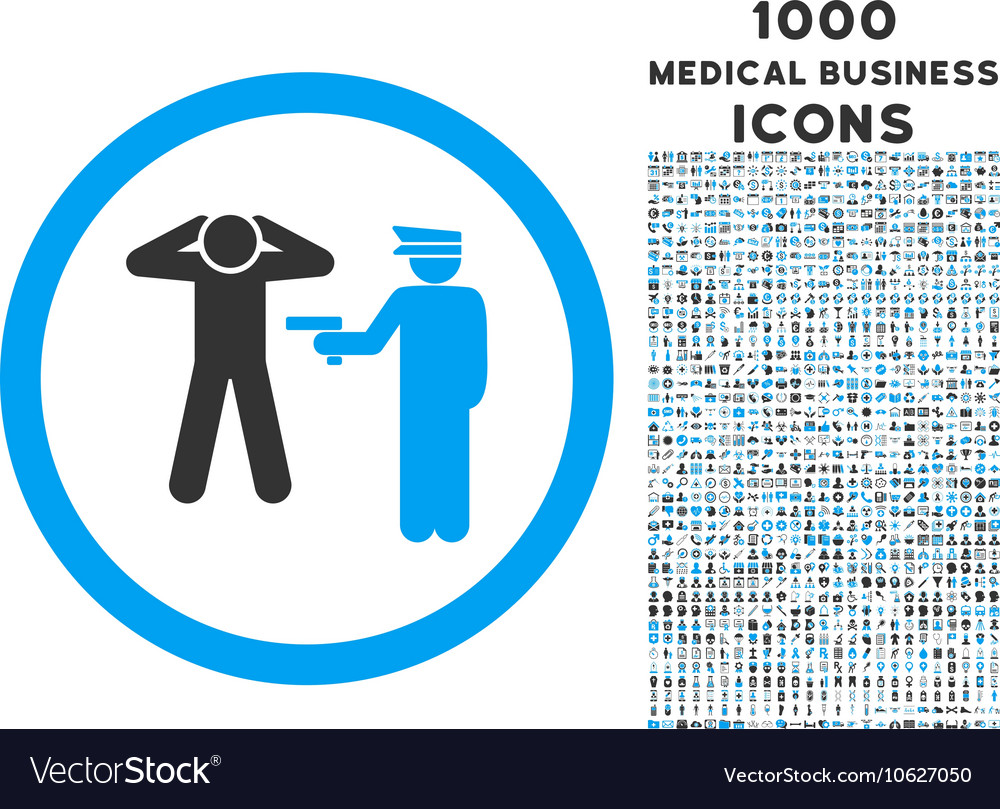 Arrest Rounded Icon with 1000 Bonus Icons
