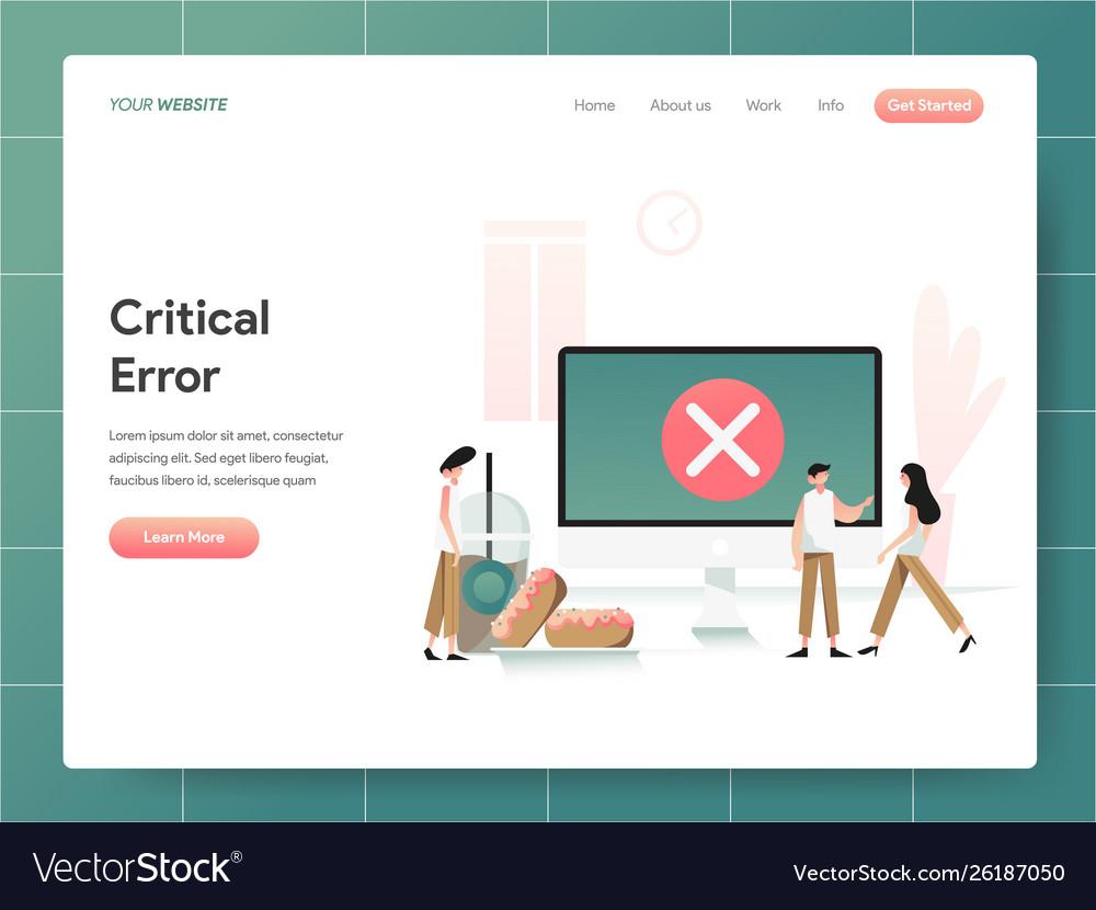 Computer critical error concept modern design