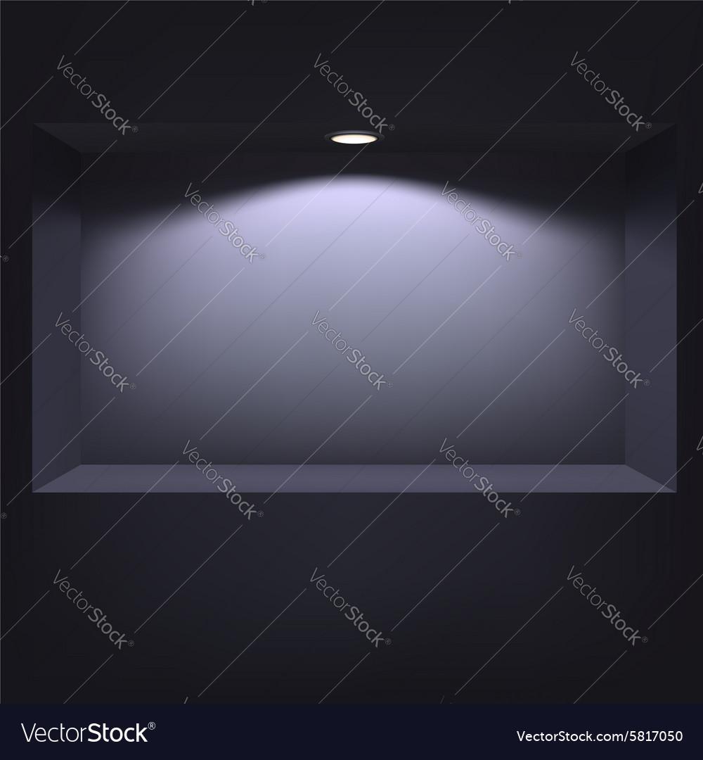 Dark niche for presentations vector image
