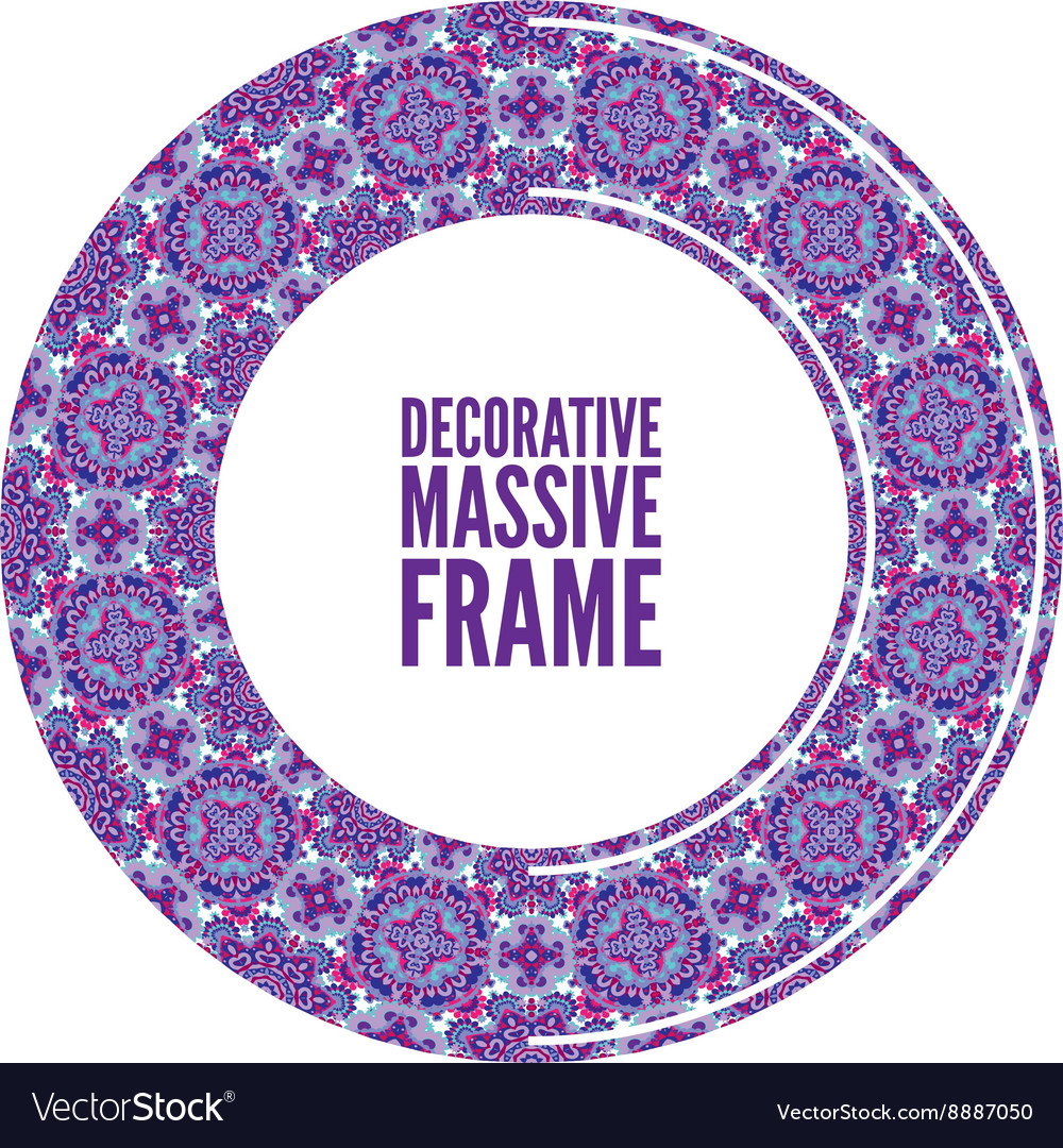 Decorative ornate round frame in Victorian style