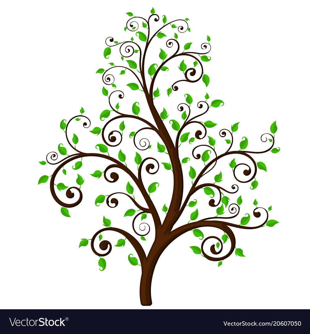 free vector tree decor roots and decorative