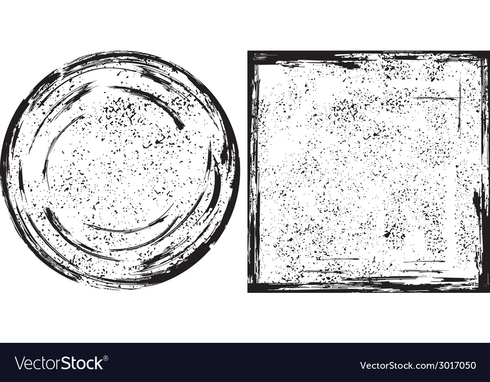 Grunge round and square frames texture