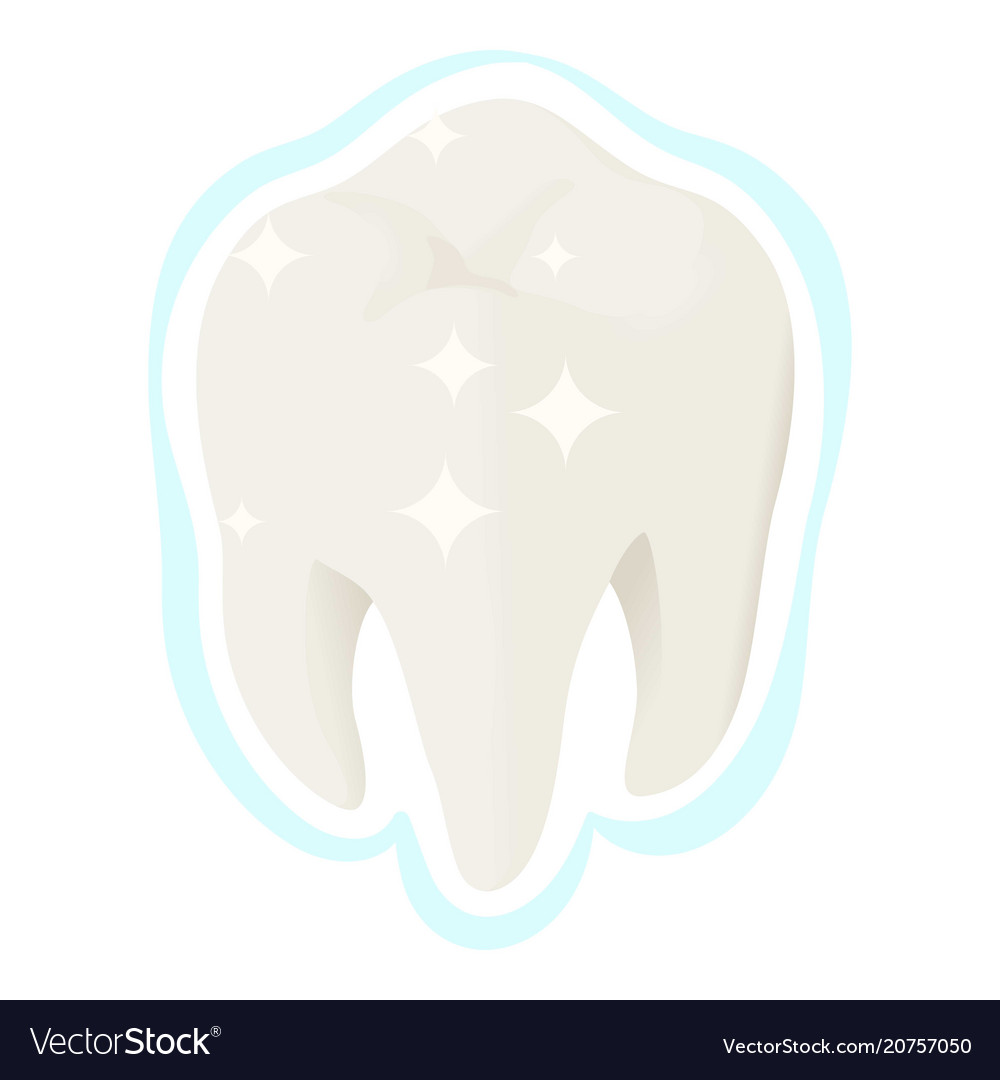 Healthy white tooth icon isometric style vector image