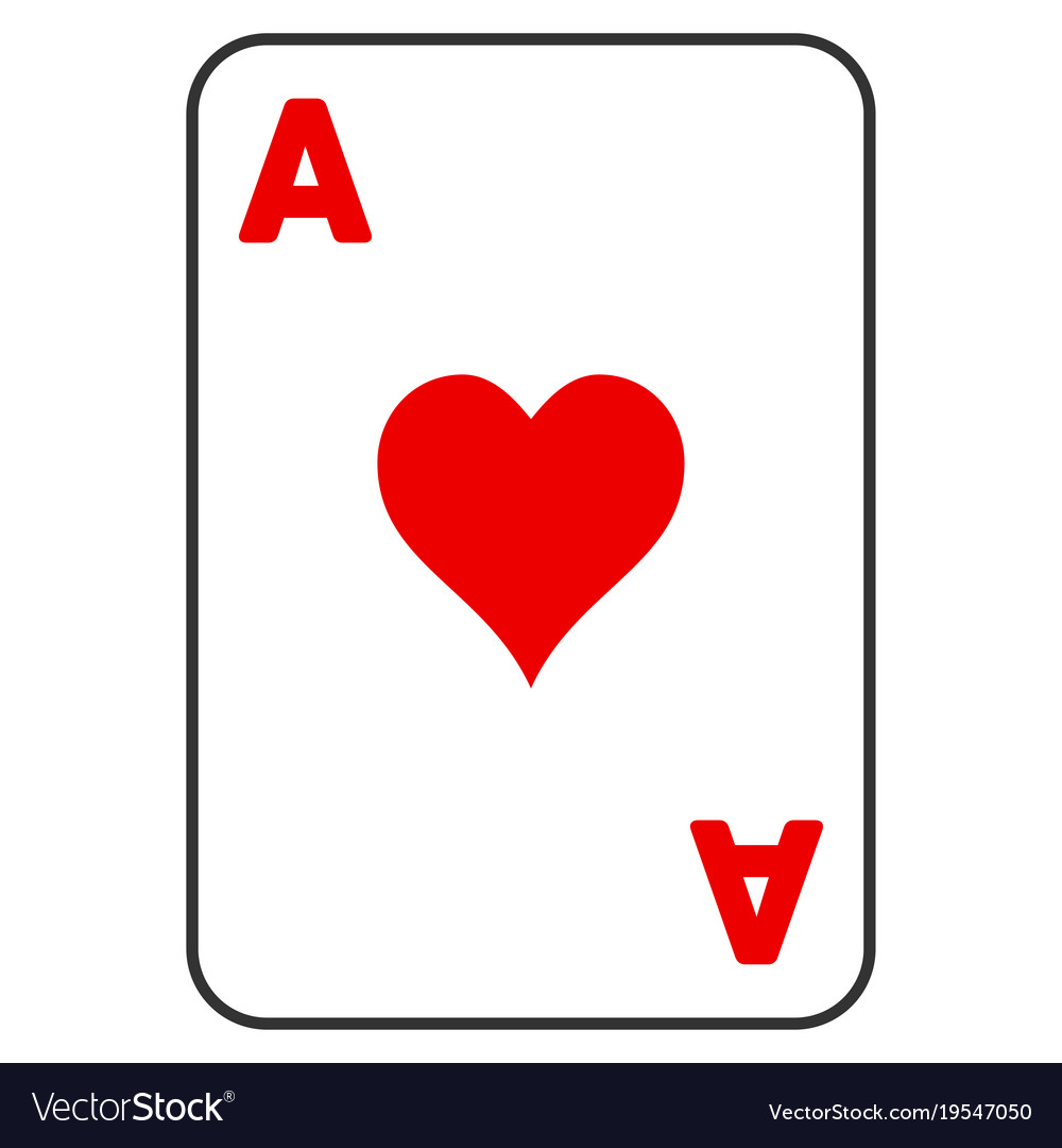 hearts ace playing card flat icon royalty free vector image rh vectorstock com playing card vector art free playing card vector art