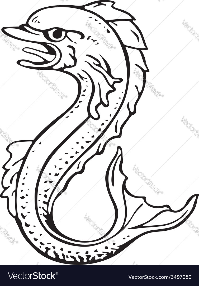 Heraldic dolphin No2