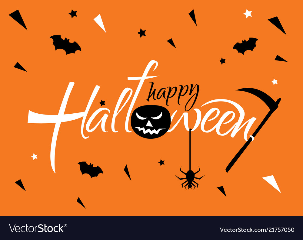 Horizontal banner for a halloween party on a