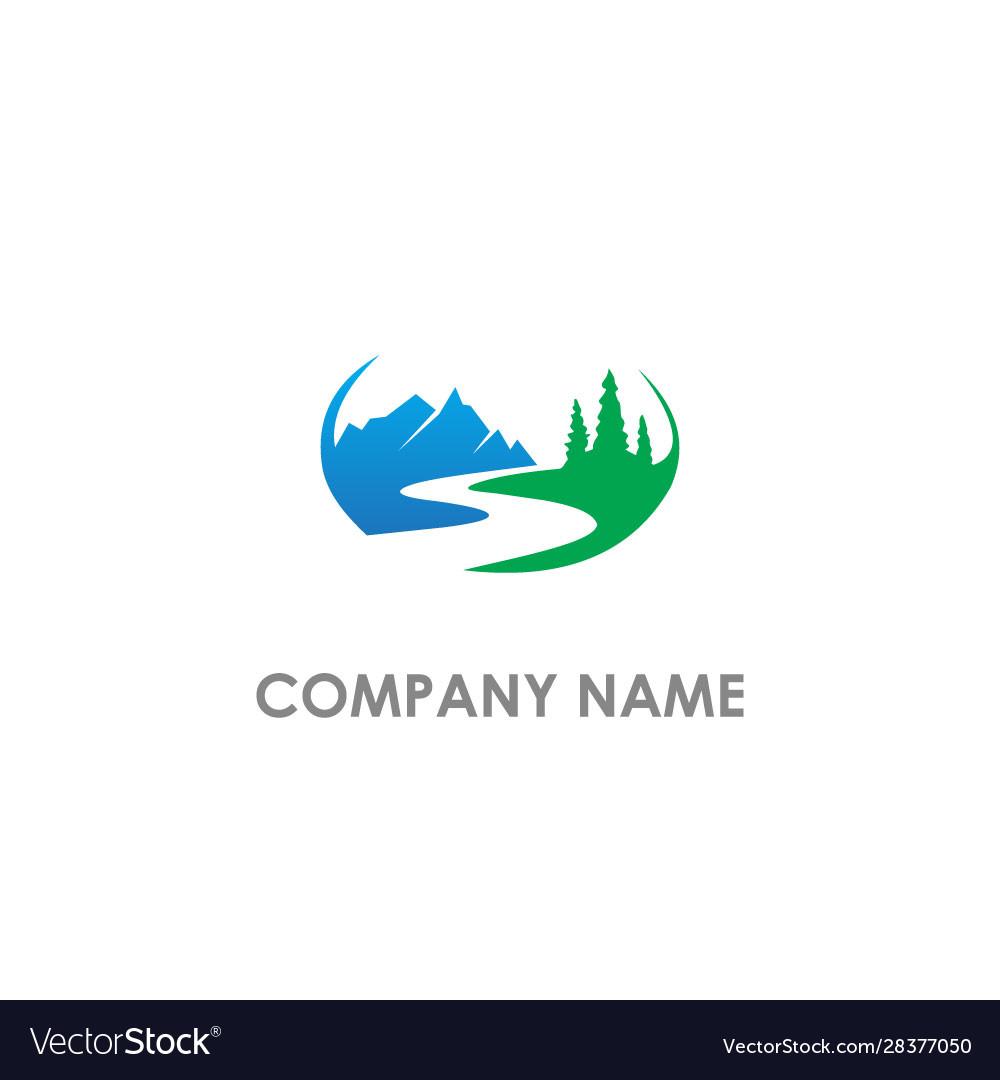 Mountain hill nature landscape logo