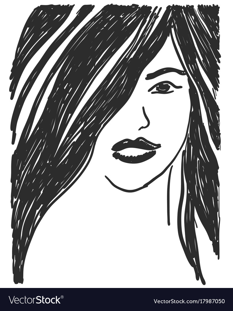People portrait of a girl vector image
