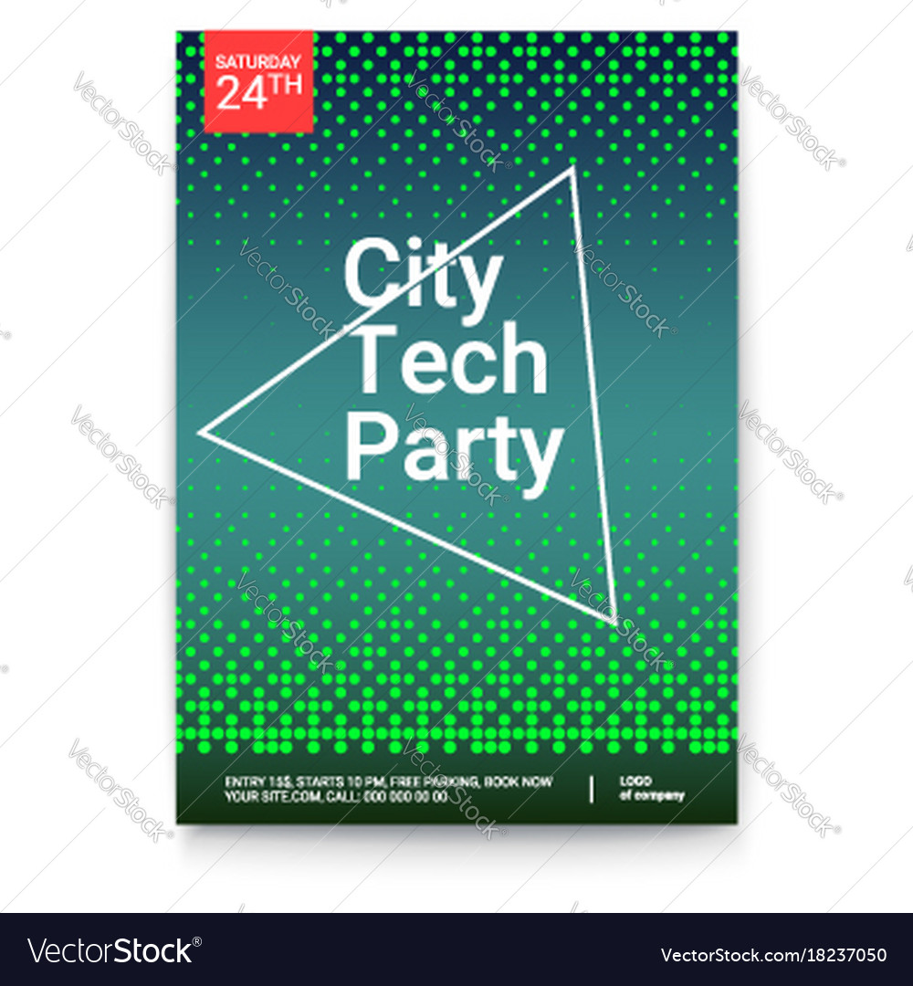 Poster design with abstract halftone dots pattern
