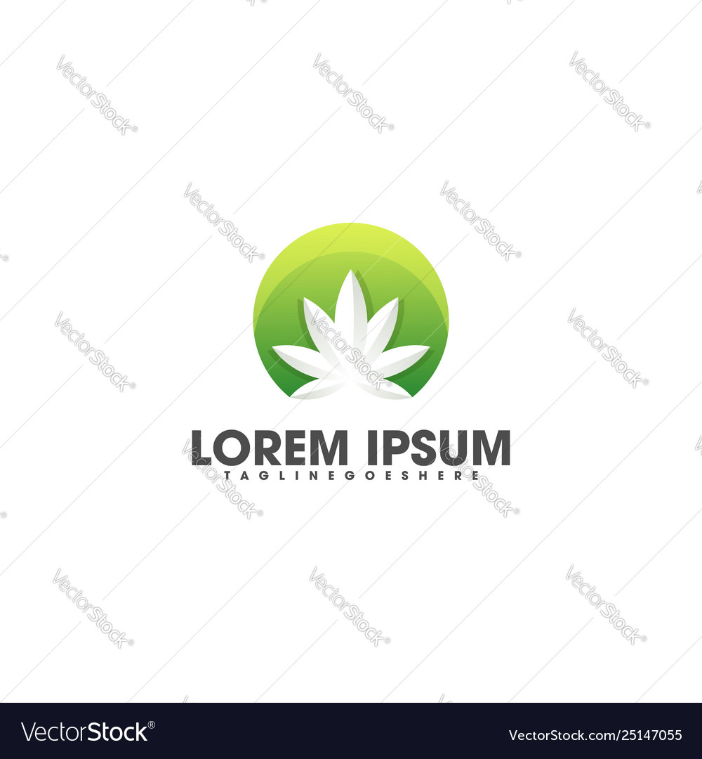 Abstract weed colorful template