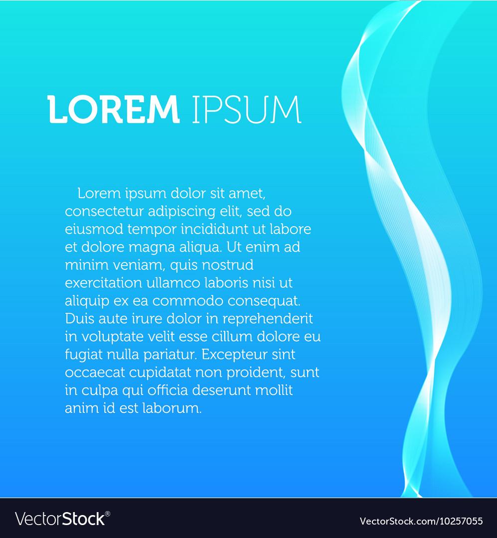 Blue color background Transparent wavy element vector image