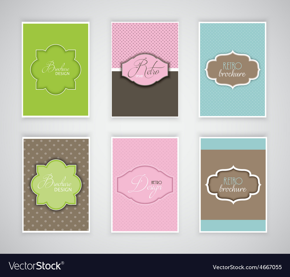 Brochure or flyer templates with retro design vector image