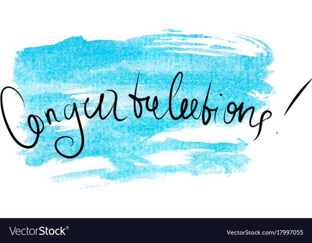 congratulations banner watercolor royalty free vector image