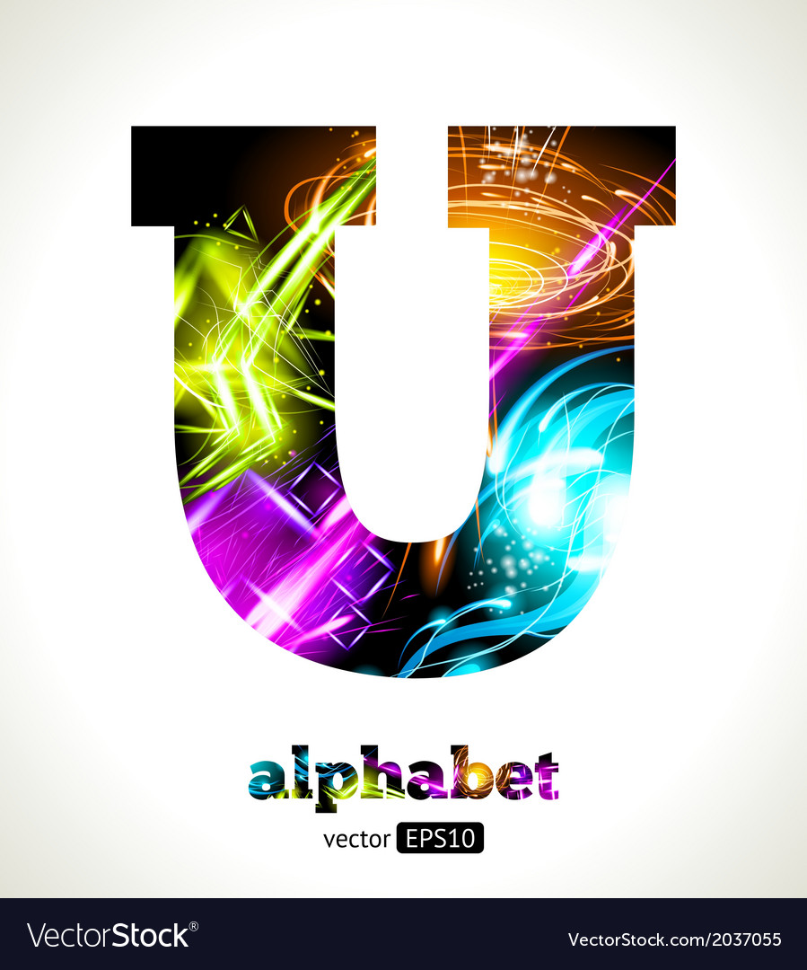 Design Abstract Letter U