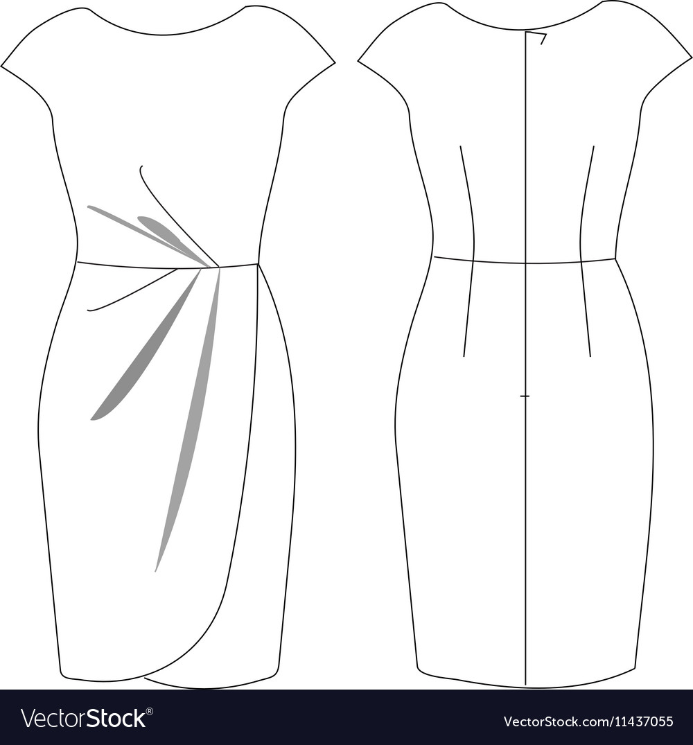 Dress vector image