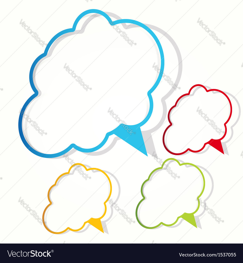 Empty cloud frame sticker Royalty Free Vector Image