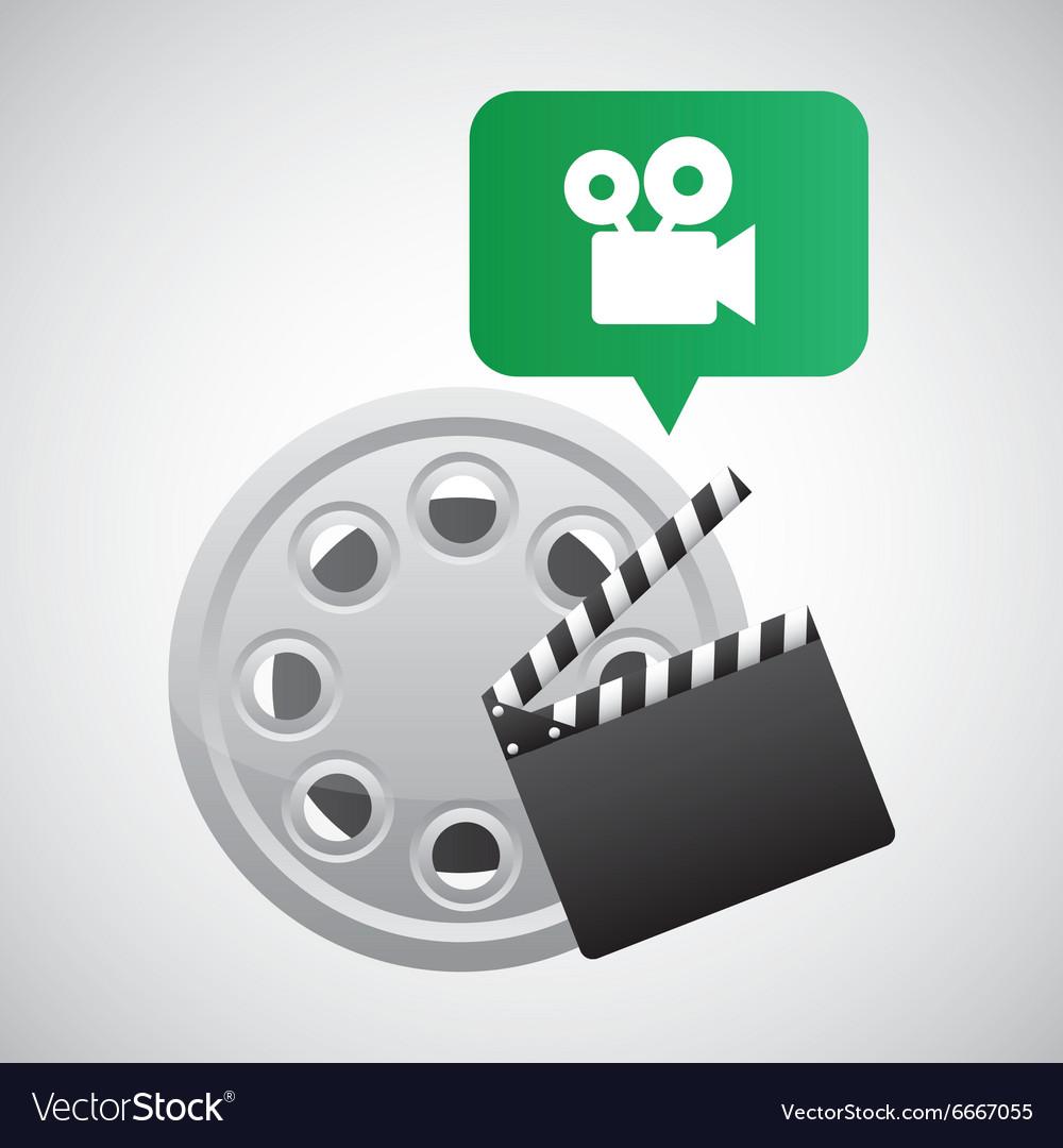 Filmstrip and clapboard design