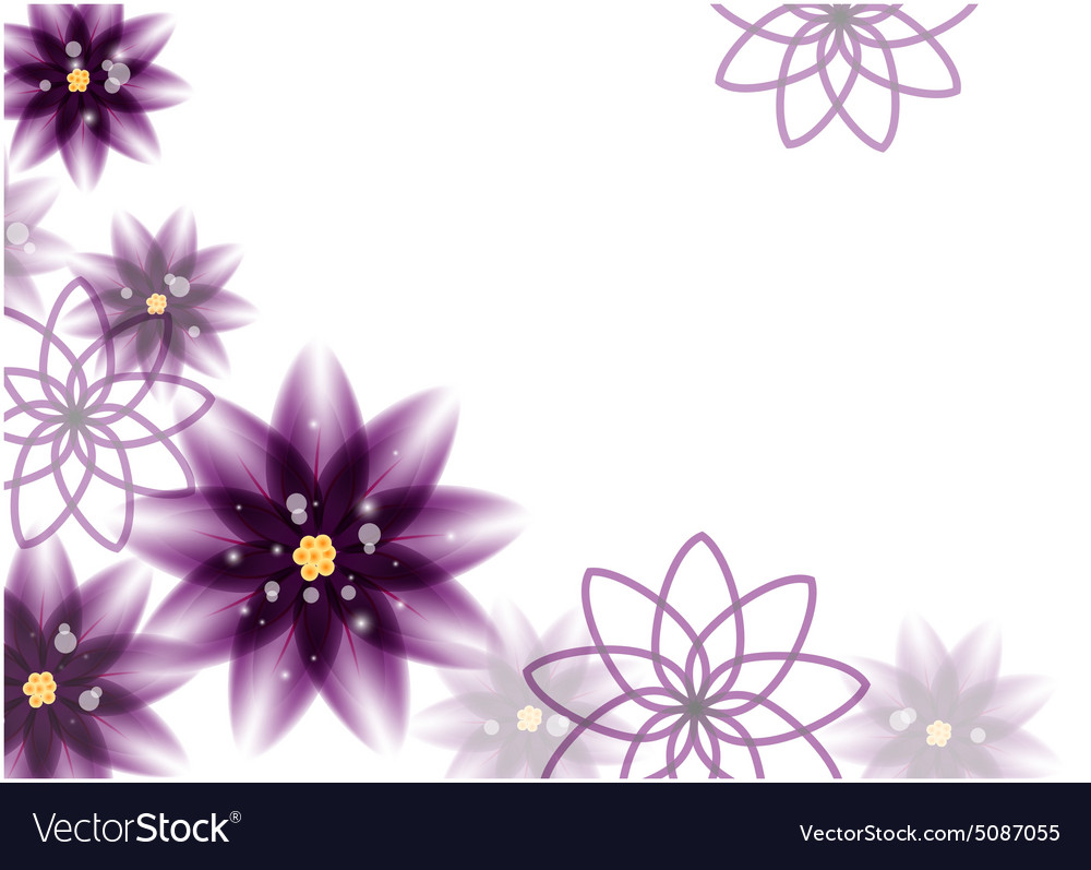Floral Background Purple Flowers Royalty Free Vector Image