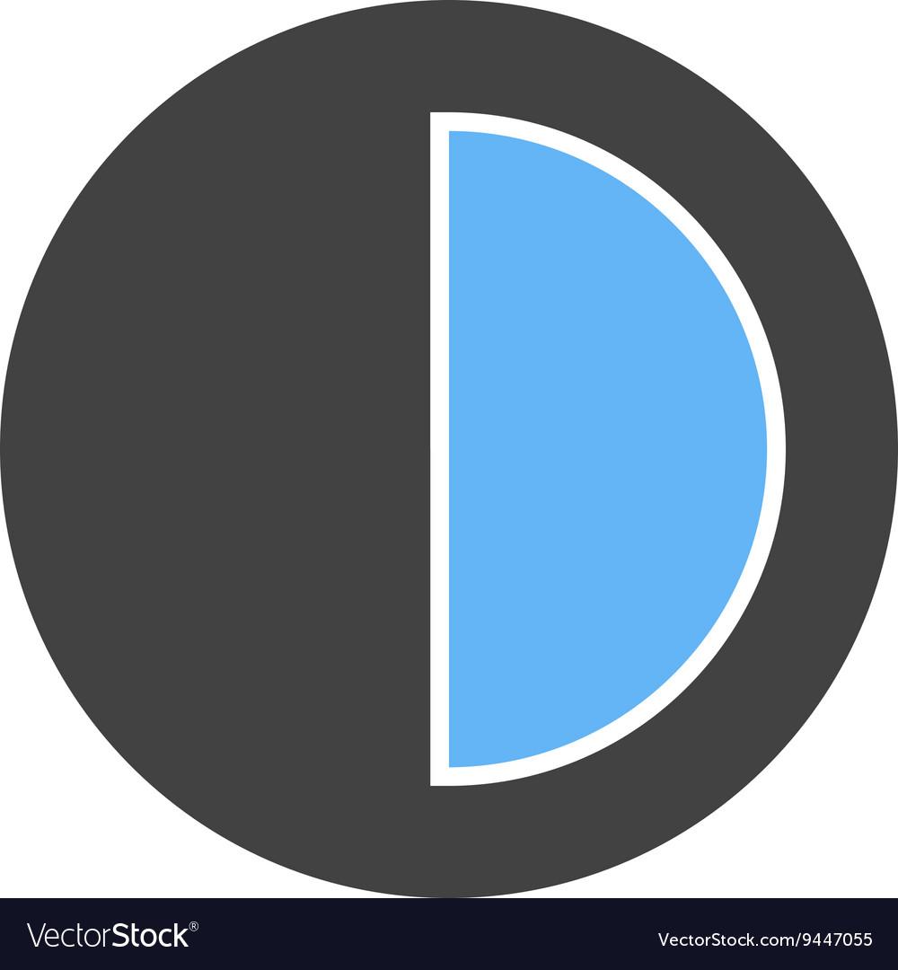 Half Pie Chart Royalty Free Vector Image Vectorstock