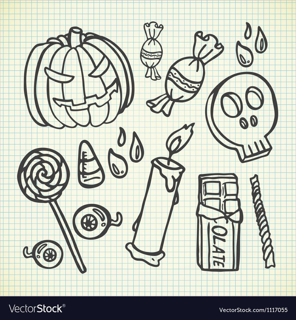 Halloween stuff vector image
