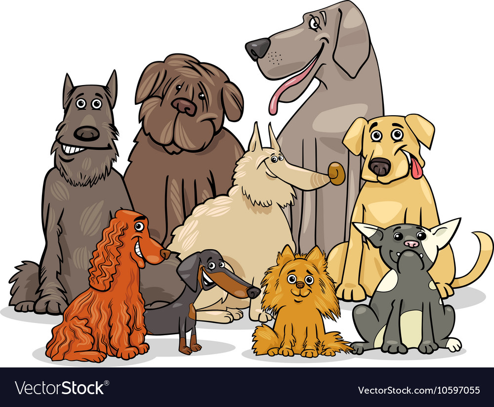 Purebred dog characters group
