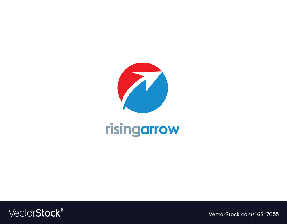 Rising arrow logo vector image