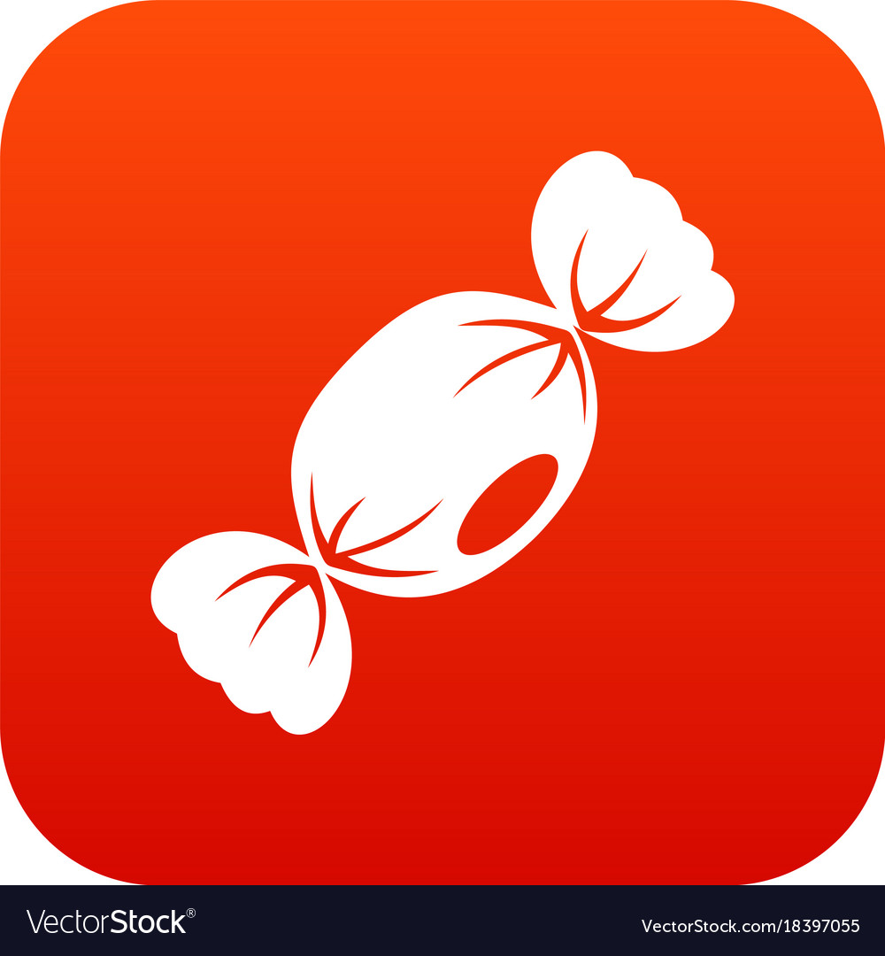 Small candy icon digital red vector image