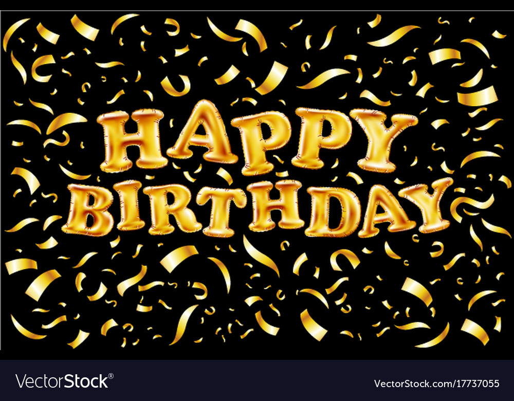 happy birthday gold Upper case letters happy birthday from gold Vector Image happy birthday gold